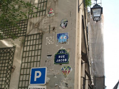 photo graffiti Paris 6eme arrondissement