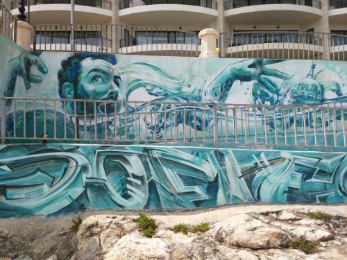 photo graffiti La Valette, Malte